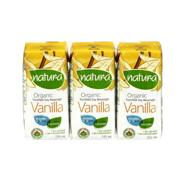 Natura Mini Vanilla Soy Milk (200ml 3-pack)