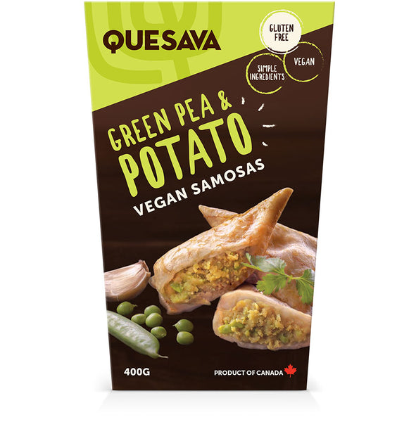 Quesava Potato and Green Pea Samosas Family Pack
