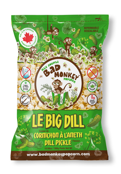 Bad Monkey Dill Pickle Popcorn