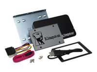 "Marca: Kingston; Código MPN: SUV500B/240G; Kingston UV500 Desktop/Notebook upgrade kit - Solid state drive - encrypted - 240 GB - internal - 2.5"" (in 3.5"" carrier) - SATA 6Gb/s - 256-bit AES - Self-Encrypting Drive (SED), TCG Opal Encryption 2.0"