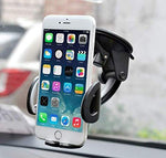 Car Phone Holder, Windshield Dashboard Cell Phone Holder Mount for Car with Strong Suction Cup for iPhone X 8 7 Se 6S 6 5S Samsung Galaxy S9 S8 S7 S6 HTC Nokia LG BlackBerry and More