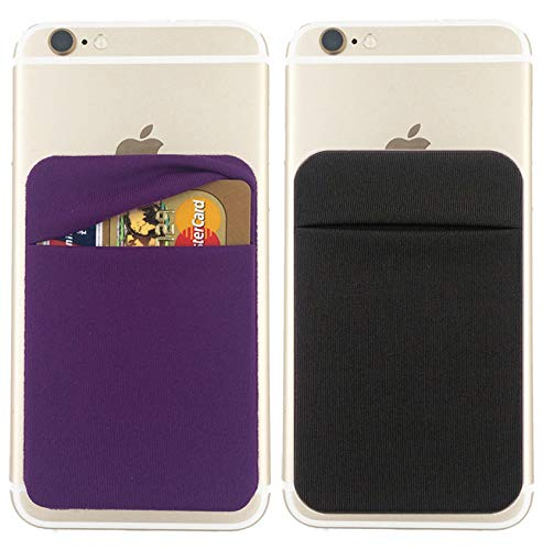 Cell Phone Card Holder >> Entrega 10 A 15 Dias 2pack Cell Phone Card Holder Double Secure With Pocket For Id Credit Cards For Back Of Phone Stick On Card Wallet Sticker