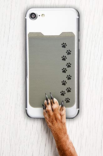 Dog Paws Phone Case by Gecko Paws Card Holder Gecko Double Pocket Wallet Dog Paw Phone Pocket Black-Dog Paws