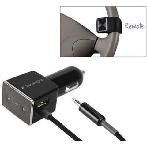 Kensington LiquidAUX K33428 Bluetooth v2.0 + EDR Hands-Free Car Kit w/USB & Steering Wheel Remote Control