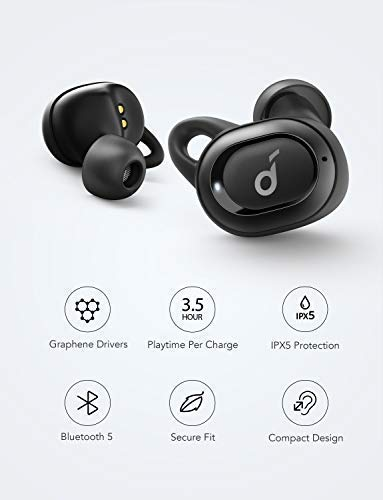 True Wireless Earbuds, Soundcore Liberty Neo by Anker, Bluetooth Headphones  with Graphene-Enhanced Drivers, 12-Hour Playtime, IPX5 Water-Resistant,
