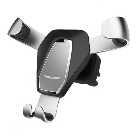 Wuedozue Gravity Car Phone Mount,Universal Clip Grip Air Vent Car Cell Phone Holder for iPhone Xs/X / 8/8 Plus / 7/7 Plus/Samsung Galaxy S8 / Note 8 and Other Smartphones (Silver)