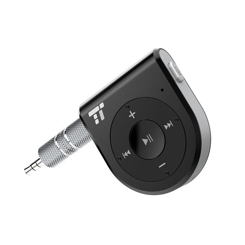 Bluetooth Receiver, Better Talking Experience with Two Microphones 15 Hour Bluetooth Car Kit, TaoTronics Wireless Audio Bluetooth Car Adapter(One Click Siri Activation,DSP/CVC 6.0/A2DP/AVRCP)