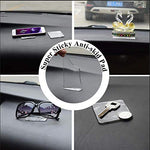ZC GEL Universal Sticky Pads, Removable and Reusable Non Slip Mat Cell Phone Holder for Car Dashboard Office House Glass Mirrors Anywhere, Clear Anti Slip Pads 10 Pcs