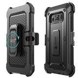 SUPCASE Galaxy S8 Active Case, Full-Body Rugged Holster Case with Built-in Screen Protector for Samsung Galaxy S8 Active, Unicorn Beetle Pro Series, Black/Black