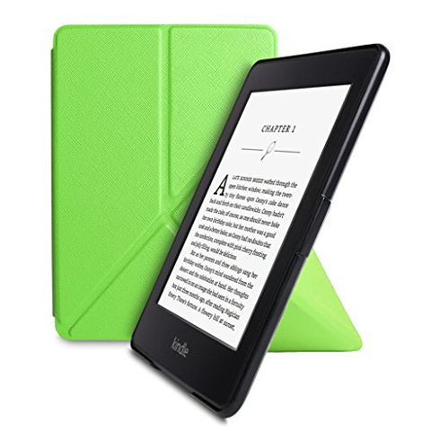 Walnew Amazon Kindle Paperwhite Standing Case Cover -- Ultra Lightweight PU Leather Origami Cover for All-New Kindle Paperwhite (Fits All versions: 2012, 2013, 2014 and 2015 All-new 300 PPI ), Green