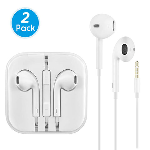 Earphones/Earbuds/Headphones, AiiLion Premium in-Ear Wired Earphones with Remote & Mic Compatible Apple iPhone 6s/plus/6/5s/se/5c/iPad/Samsung/MP3 MP4 MP5 (White)