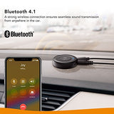 [Upgraded] Roav Bluetooth Receiver, by Anker, with Bluetooth 4.1, CSR Bluetooth Chip, Noise-Cancellation, Integrated Mic for Hands-Free Calling, AUX-Out Port, and a USB Charging Port