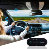 Bluetooth Car Speakphone, BTBSZ Sun Visor Multipoint Wireless Connection A2DP Streaming Bluetooth Car Kit Hands Free Talking and Driving Compatible with All Cars and Bluetooth Phones