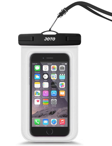 "JOTO Universal Waterproof Pouch Cellphone Dry Bag Case for iPhone Xs Max XR XS X 8 7 6S Plus, Samsung Galaxy S9/S9 +/S8/S8 +/Note 8 6 5 4, Pixel 3 XL Pixel 3 2 HTC LG Sony Moto up to 6.0"" –Clear"