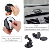 Rovtop 3 Pieces Adhesive Mounting Disk for Car Dashboards Vehicles with Windshields (Medium)