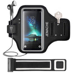 Galaxy S10 Plus/S9 Plus/S8 Plus Armband, JEMACHE Gym Run Workout/Exercise Phone Holder Arm Band for Samsung Galaxy S10 Plus/S9 Plus/S8 Plus Fits Otterbox Defender, Lifeproof Case (Black)