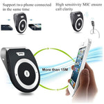 Bluetooth Car Speaker, Handsfree Bluetooth 4.1 Speakers Radio for Car Stereo, AUTO Power ON Car Receiver Sun Visor Music Player Adapter Built-in Microphone for Handsfree Talking