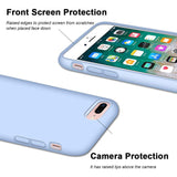 "iPhone 8 Plus Case, iPhone 7 Plus Case, Anuck Soft Silicone Gel Rubber Bumper Case Microfiber Lining Hard Shell Shockproof Full-Body Protective Case Cover for iPhone 7 Plus /8 Plus 5.5"" - Light Blue"