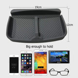 No Slip Car Dashboard Grip Pad,Anti Skid Rubber Automobile Visor Organizer Holder Tray Storage Stand for Sunglasses,Key Chain,Coins,Pens,Cell Phone,GPS Navigator(Gray)