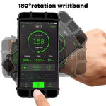 "Matone Wristband for iPhone X/8/8 Plus/7/7 Plus/6/6S Plus, 180° Rotatable Phone Holder Forearm Armband Ideal for Jogging Running Compatible with Samsung Galaxy S8/S7 & 4.0""-5.5"" Smartphone (Black)"