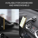 MIRACASE Car Phone Mount Magnetic Phone Holder Dashboard&Windshield Adjustable Vehicle Phone Stand Universal Compatible with iPhone X Xs Max XR 8 Plus 7 6 Samsung Galaxy S10 9 8 Note 9 8 Edge (CM-001)