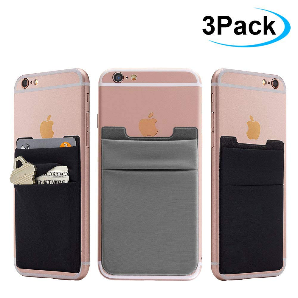 Cell Phone Card Holder >> Entrega 10 A 15 Dias Cell Phone Card Wallet 3pack Phone Card Holder Ama Forest Ultra Slim Silicone 3m Self Adhesive Stick On Wallet For Id Credit