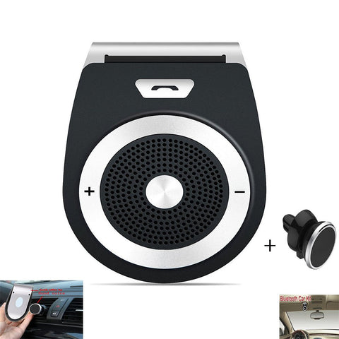 Car Speaker Hands Free Wireless-in Car Kit Speakers Radio for Car Stereo Sun Visor Air Vent Built-in Mic & Car Charger for iPhone 7/Plus Samsung Support Siri