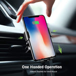 Acumen Wireless Car Charger Mount Car Charger Gravity Air Vent Phone Holder 7.5W Compatible with iPhone Xs XR/X/8/8 Plus, 10W with Galaxy Note 9 S9 S9 Plus Note 8 Car Charger Included (Black)
