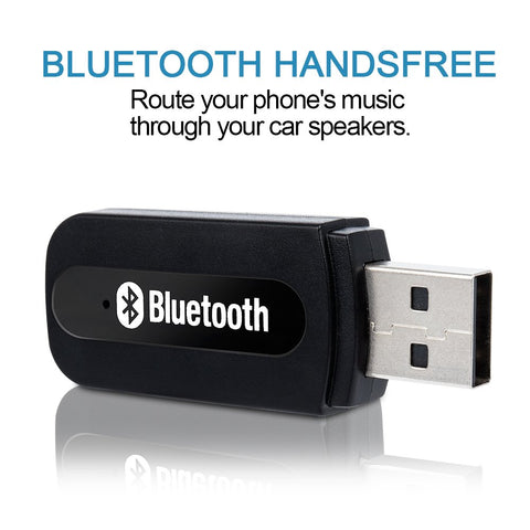 USB Bluetooth Receiver for Car, Music Streaming Car Kit, Portable Wireless Audio Adapter 3.5mm Aux Cable