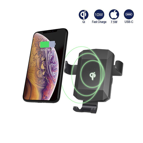 Qi Certified Fast Wireless Car Charger Mount, Automatic Gravity 10W Qi Fast Charging Car Phone Holder Air Vent Compatible for iPhone XS/MAX/XR/X/8/8+, Samsung Galaxy 9/S9/S9+/S8/S8+