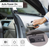 Avantree CK11 New Bluetooth Hands Free Car Kit, Connects with Siri & Google Assistant, Auto On Off, Wireless in Car Handsfree Speakerphone, 2W Powerful Speaker, Dual Link Connectivity & Visor Clip