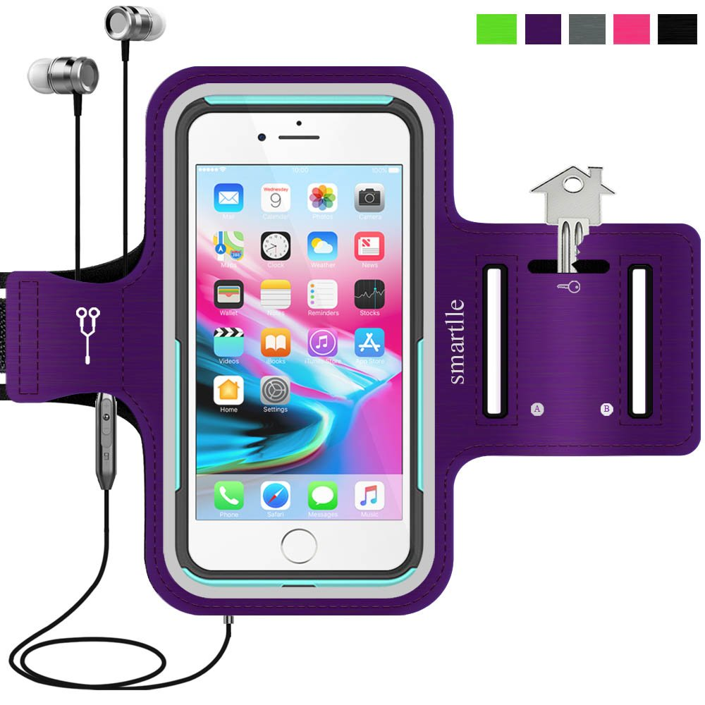 big sale de287 5c5b5 iPhone & Phone Armband Running Workout Holder for iPhone Xs Max, XR, 8  Plus,7 Plus,6s Plus, Samsung Galaxy S9+/ Note9, LG, Pixel, MOTO, with their  ...
