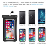 Universal Waterproof Case, IFCASE IPX8 Floating TPU Phone Dry Bag Pouch for iPhone Xs Max/XR/XS/X, iPhone 7/8 Plus, Samsung Galaxy S8+/S9+/S10+, Note 9/8, Pixel 3/2 XL (Black)