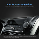 RIVERSONG Mini Bluetooth Receiver, Wireless Bluetooth 4.1 Receiver Adapter Bullet, Hands-Free Car Kits with 3.5mm Aux Jack Receiver for Audio Stereo System Headphone Speaker (Silver)