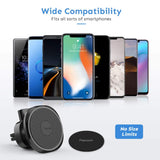 Magnetic Phone Car Mount, Penom Cell Phone Holder for Car Universal Air Vent Magnet Car Phone Mount Fits iPhone Xs Max XR X 8 7 6S 6 Plus and Most Smartphones (Black)