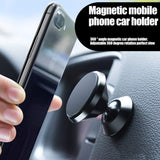 Magnetic Car Mount, MANORDS Stylish 360°Rotation Car Phone Holder, Adjustable Dashboard Mount Compatible iPhone Xs X 8 Plus 7 6s Samsung Galaxy S9 S8 Edge S7 Note 9 and More(Black)