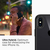Spigen Ultra Hybrid Designed for Apple iPhone Xs Case (2018) / Designed for Apple iPhone X Case (2017) - Matte Black