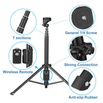 Eocean Selfie Stick Tripod, 54 Inch Extendable Camera Tripod for Cellphone and Gopro, Compatible with iPhone Xs/Xr/Xs Max/X/8/8Plus/7/Galaxy Note 9/S9/Huawei/Google/Xiaomi
