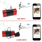 Audio music receiver, Bluetooth Car Kit Mini USB Wireless Audio Adapter Bluetooth Music Receiver & Adapter 3.5mm Stereo Output for Headphones Portable Speakers and Car Stereo Systems (Bluetooth-XM2)