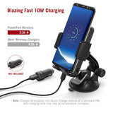 TaoTronics Phone Holder for Car, Wireless Car Charger Mount, Qi Fast Charge Phone Mount for Samsung Galaxy S10 S9 S8 S7 Edge S6 Edge+ Note8 and Standard Charge for iPhone Xs Max XR X 8 7 Plus