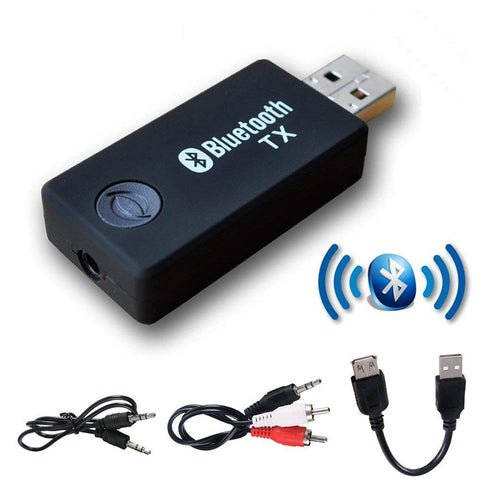 USB Bluetooth Transmitter,YETOR 3.5mm Portable Stereo Audio Wireless Bluetooth Transmitter for TV,Bluetooth for pc, MP3/MP4,2 Devices Pair Simultaneously (tx9-new)