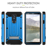 LG Stylo 4 Case, Evocel [Explorer Series Pro] Premium Full Body Case with Glass Screen Protector, Belt Clip Holster, Metal Kickstand for LG G Stylo 4 (2018), Blue (EVO-LGSTYLO4-CC02)