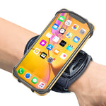 "Sports Wristband, Comsoon 360° Rotatable Forearm Armband Phone Holder for iPhone Xs Max/XR/8 Plus/7, Galaxy Note9/S9 Plus/S9 & Other 4""-6.5"" Smartphone, with Key Holder for Biking Running"
