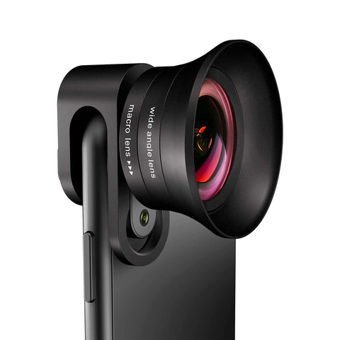 Phone Camera Lens Pro - ANGFLY 4K HD 2 in 1 Aspherical Wide Angle Lens & Super Macro Lens,Clip-On Cell Phone Camera Lenses Compatible with iPhone,Android,Samsung Mobile Phones and Tablets