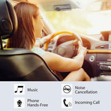 Avantree 10BS Hands-Free Bluetooth Visor Car Kit with Auto Power On Motion Sensor, Wireless in-Car Speakerphone Supports GPS, Music, Compatible with iPhone, Samsung, and Smartphones