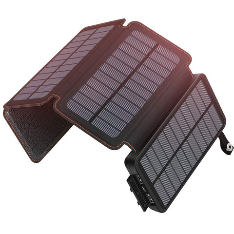 SOARAISE Solar Charger 25000mAh Portable Power Bank with 2 USB Output Waterproof Battery Pack Compatible with Most Phones, Tablets and More