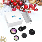 AMIR Phone Camera Lens, 0.45X Super Wide Angle Lens + 12.5X Macro Lens, Clip-On 2 in 1 Professional for iPhone Lens Kit for iPhone 8, X/7, 6/6 Plus/5s, Samsung & Smartphones