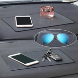 "Car Dashboard Anti-Slip Mat, DaKuan 4 Packs 10.5"" x 5.7"" and 8"" x 5.1"" Sticky Non-Slip Dashboard Gel Latex Pad for Cell Phone, Sunglasses, Keys, Coins"