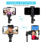 "Selfie Stick Tripod, UBeesize 51"" Extendable Tripod Stand with Bluetooth Remote for iPhone & Android Phone, Heavy Duty Aluminum, Lightweight"