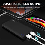 GETIHU Portable Charger, 13000 mAh Power Bank, 4.8A High-Speed 2 USB Ports Battery Pack External Battery with Flashlight, Compatible with iPhone Xs X 8 7 6s 6 Plus Samsung Note 9 S9 iPad Tablet etc.